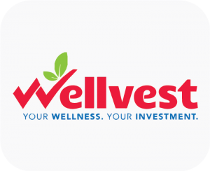 This is the company logo of Wellvest